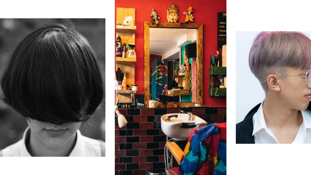 <p>Слева направо: стрижка &laquo;боб на ножке&raquo;, гендерно-нейтральный салон Tutti Frutti, Лондон, стрижка &laquo;андеркат&raquo;.&nbsp;Источник:&nbsp;сайт салона.</p>